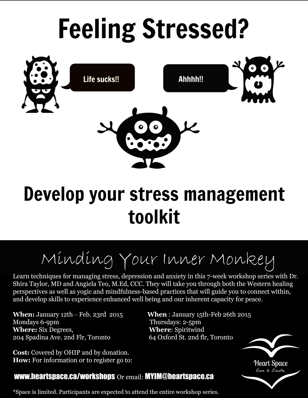 Minding Your Inner Monkey Workshops: New for January 2015