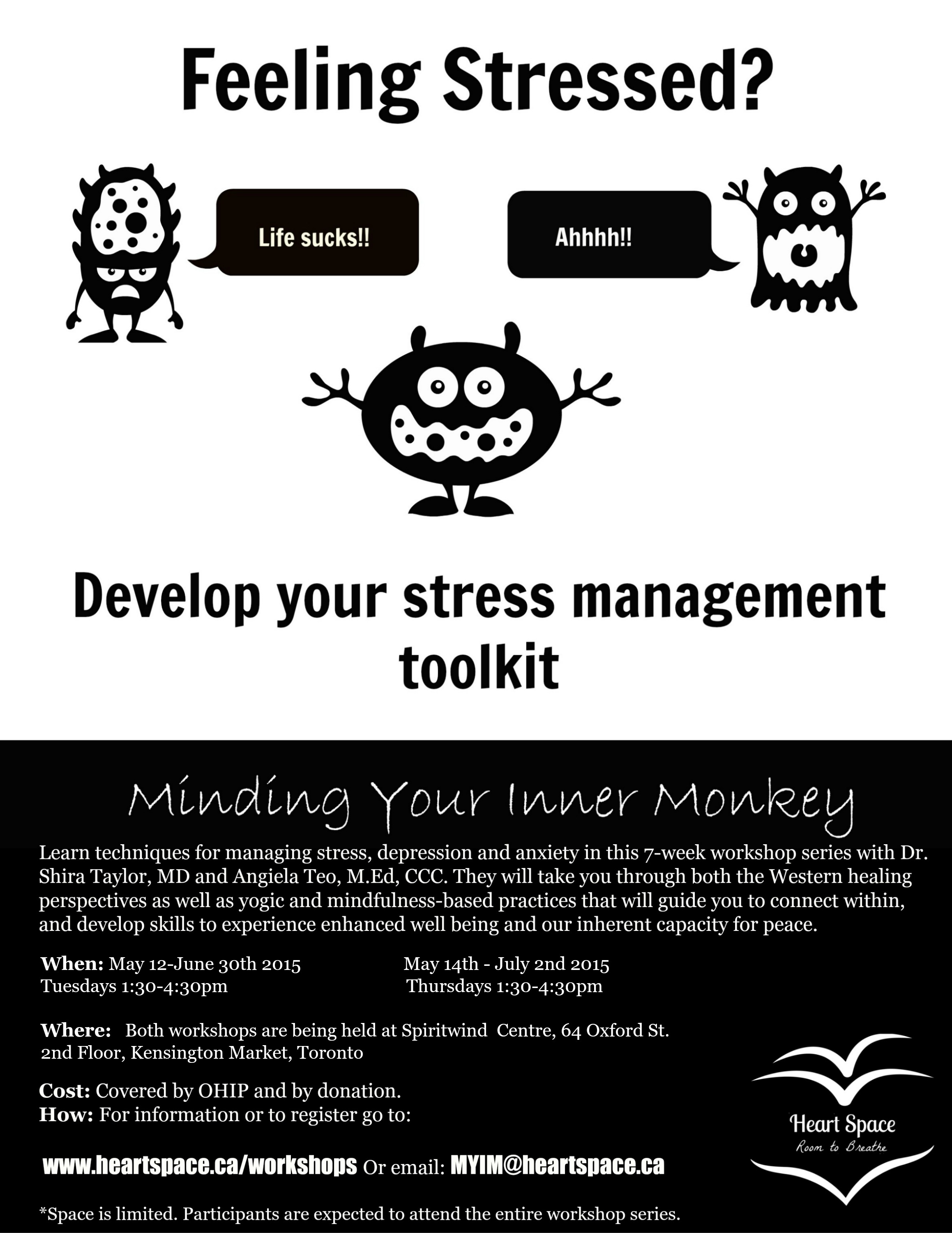 Minding Your Inner Monkey Workshops May 2015